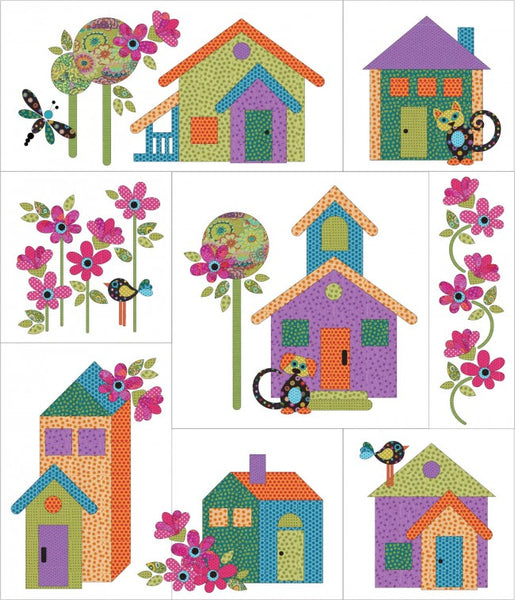 Our House 8 Block Quilt Set Applique Sparrow Quilt Co