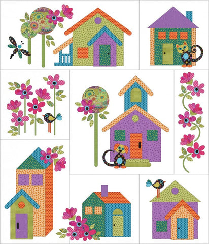 Our House - 8 block - Quilt Set - Applique