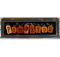 Pumpkin Wool Applique Kit