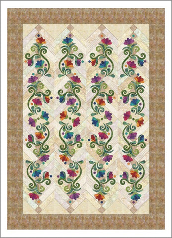 Radiant - French Braid Quilt - Applique Set