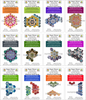Image of Rosette Complete Pack Months 1 - 12 for The New Hexagon Millefiore Quilt-Along