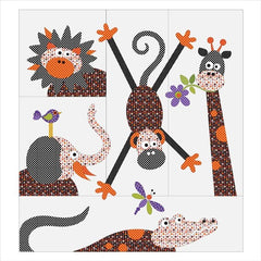 Safari - 5 Block - Quilt Set - Applique
