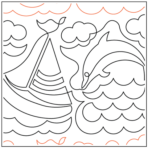 Sailboat and Dolphin