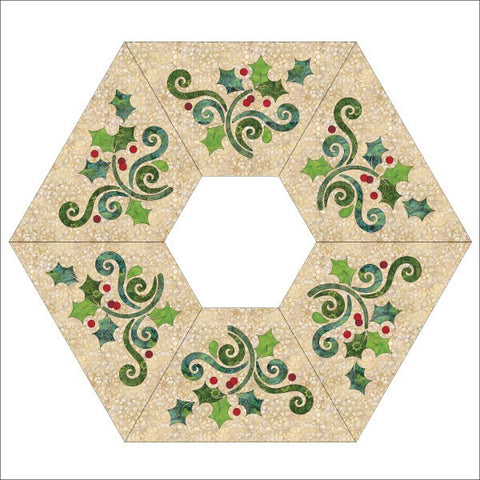 Season's Greetings - Tree Skirt - Applique