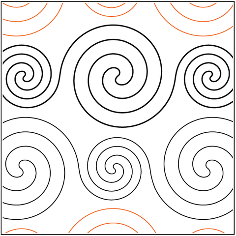 Spirals - large and small