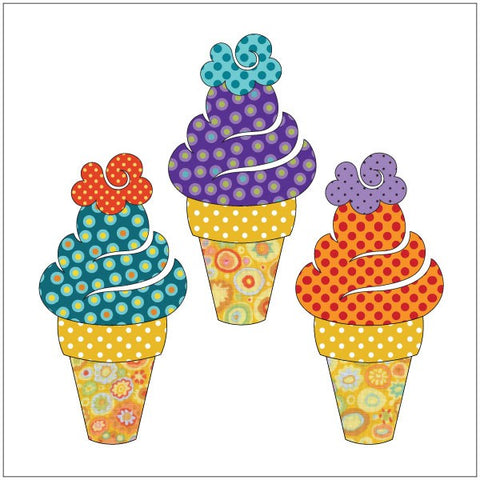 Sweet Treats - Ice Cream Cones - Applique