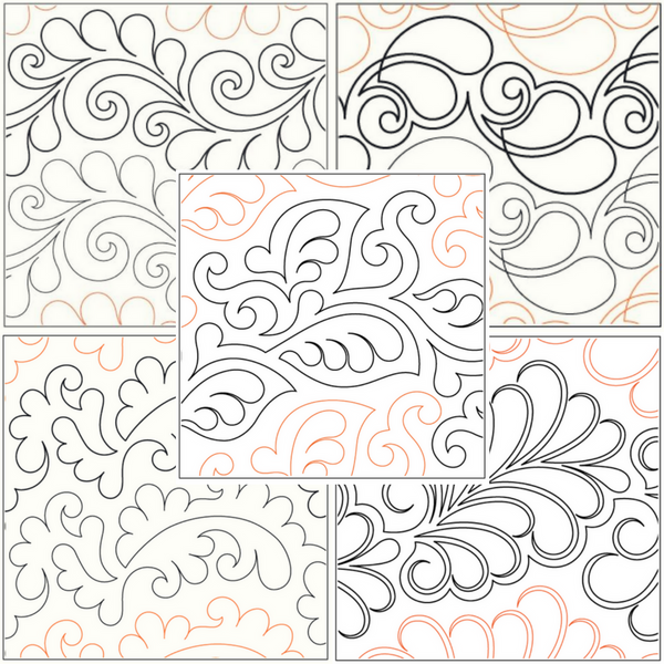 Feather Pantograph Starter Pack Sparrow Quilt Co