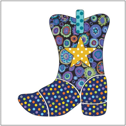 Yee-Haw - Blue - Applique