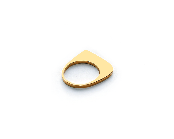 High Tide Ring Gold Plated Sterling Silver