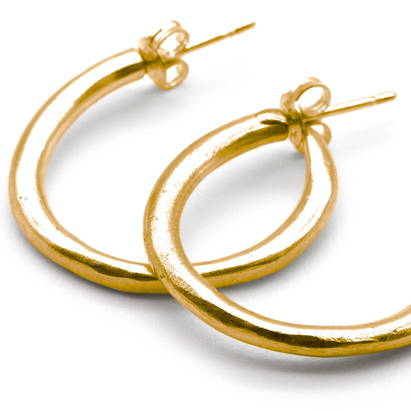 Sweet Strange Hoops Gold Plated Sterling Silver