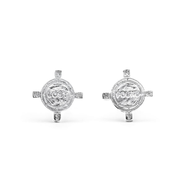 Gemini Earrings Silver