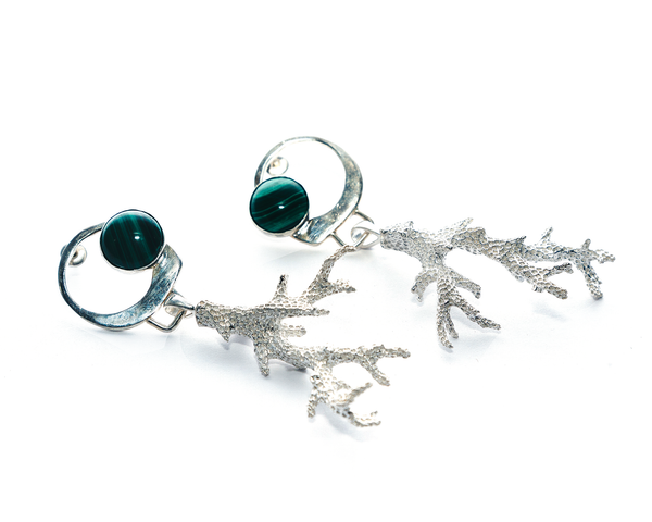 Deep Water Earrings Sterling Silver