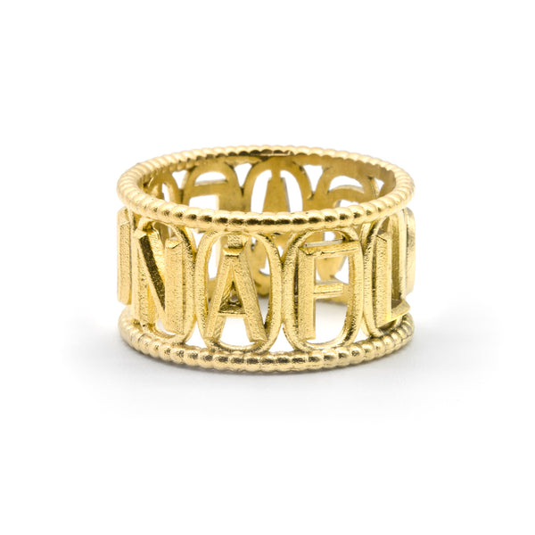 Devotion Ring Gold Plated