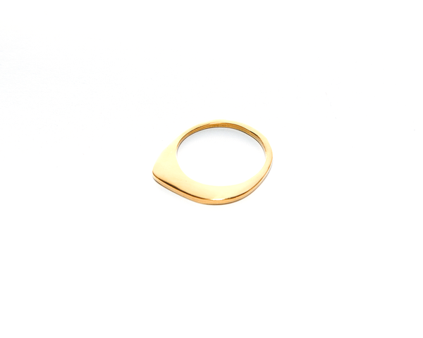 Low Tide Ring Gold Plated Sterling Silver
