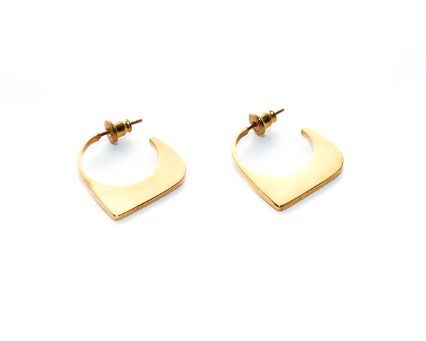 Tidal Earrings Gold Plated Sterling Silver