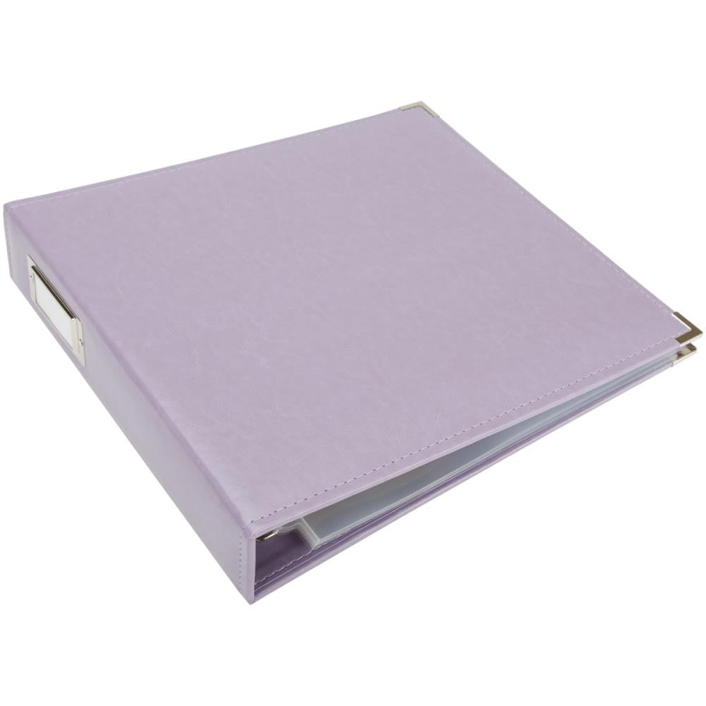 Lilac 12x12 Classic Leather D-Ring Album