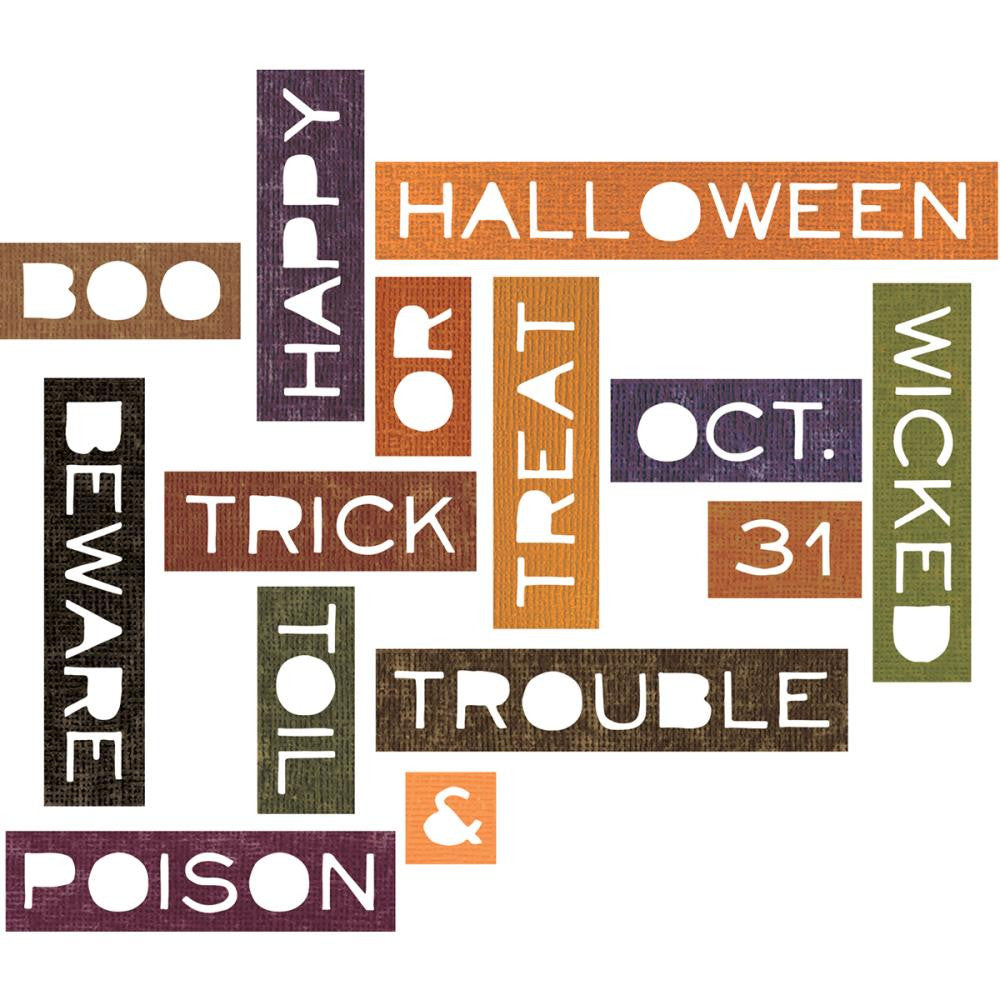 Alterations Halloween Words: Thin Thinlits Die