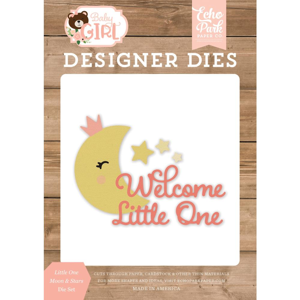 Baby Girl Little One Moon & Stars Die Cut