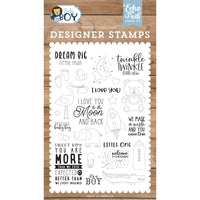 Baby Boy Dream Big Little Man Stamp Set