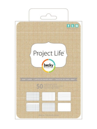 Project Life 4x6 Kraft Journaling Cards