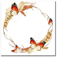 Feather Wreath 12x12 Paper