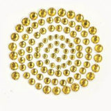 Deep Yellow Rhinestones