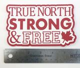 True North Strong & Free Layered Die Cut