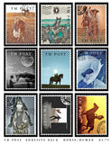 Horses & Humans Adhesive Backed Stamps