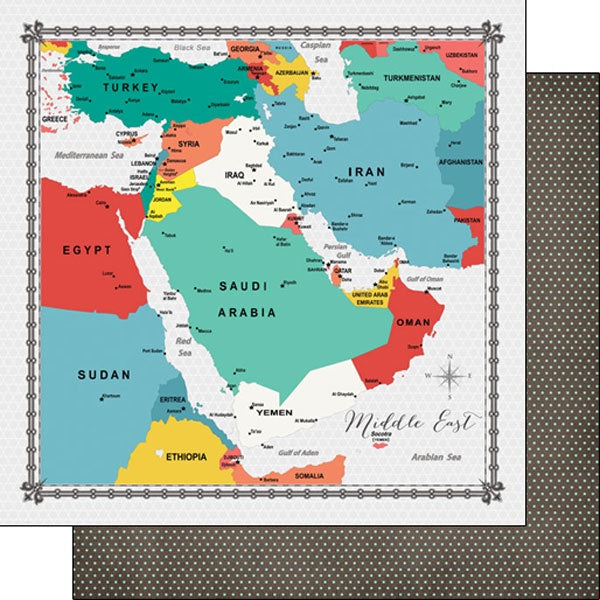 Middle East Memories Map 12x12 Paper