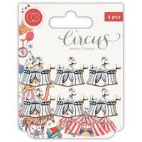 Circus Big Top Metal Charms