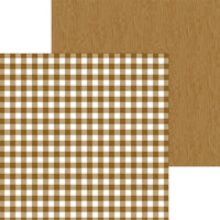 Bon Bon Buffalo Check - Wood Grain 12x12 Paper