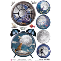 Moon & Me Alarm Clock Rice Paper