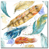 Watercolor Feathers 1 12x12 Paper