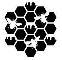 Honeycomb with Bees 6x6 Stencil
