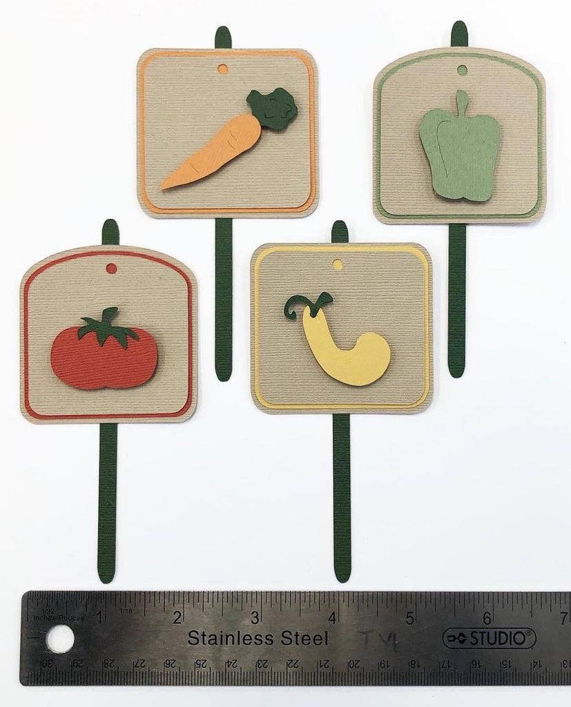 Garden Stakes Layered Die Cut