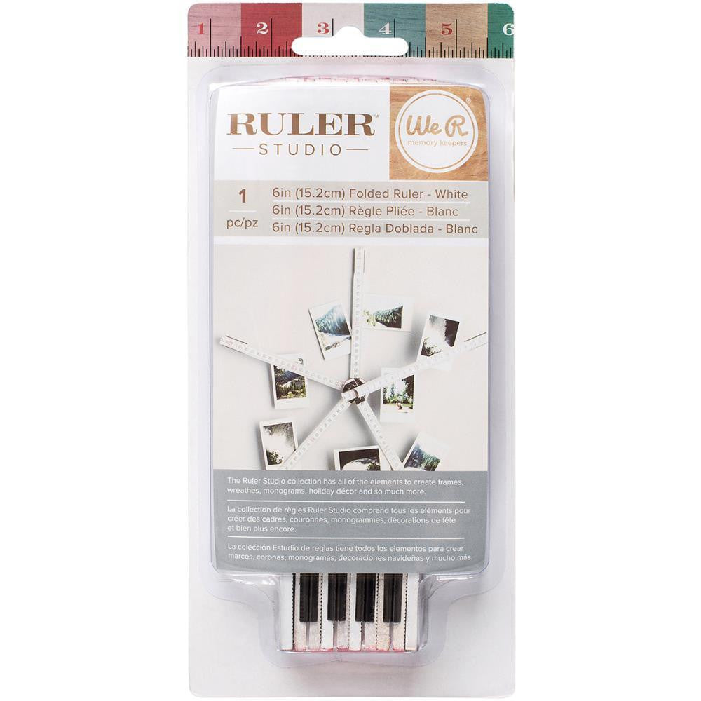 "Ruler Studio 6"" White Folded Ruler"