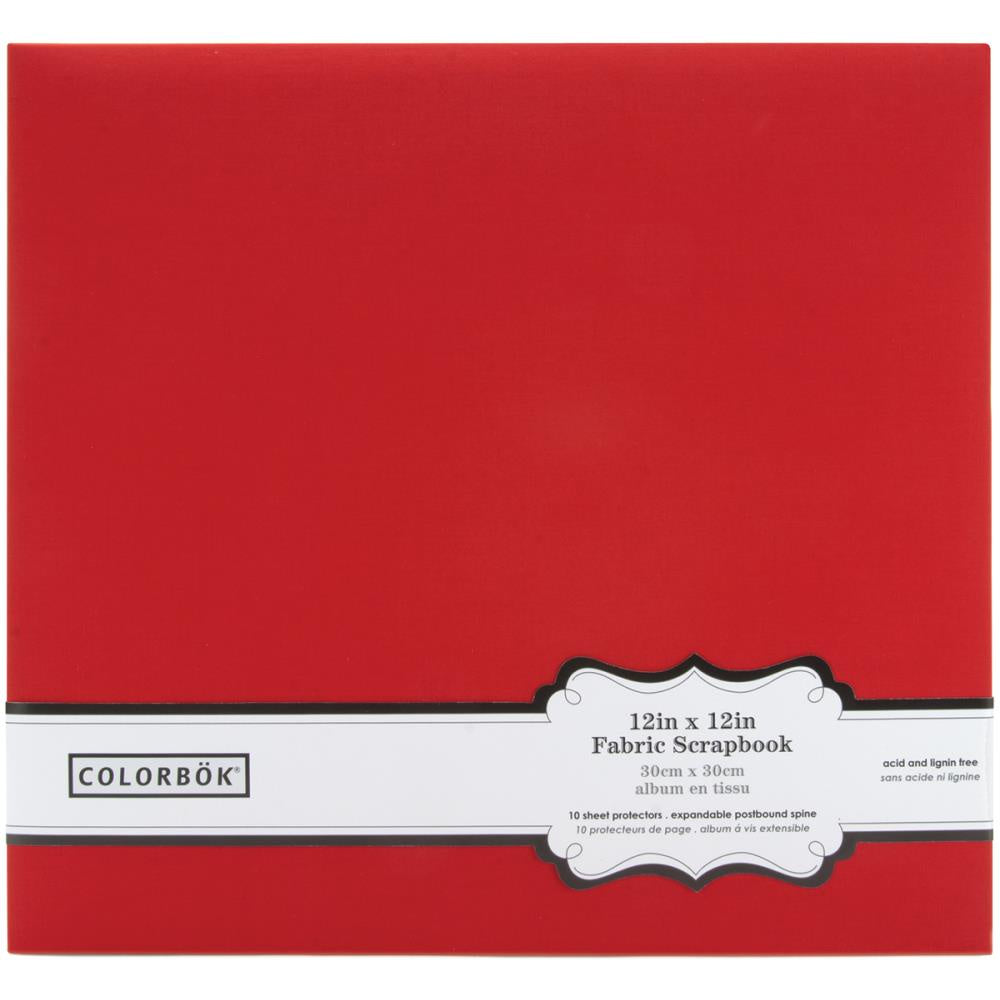 Red Fabric 12x12 Post Bound Album