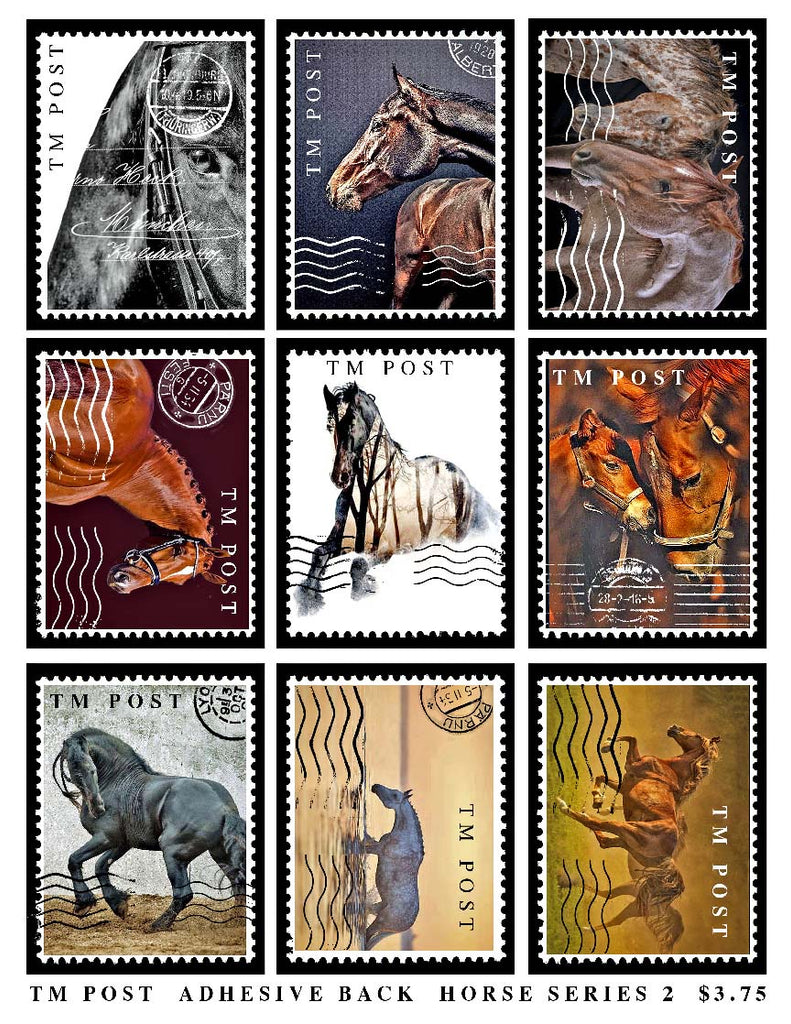 Horses Series 2 Adhesive Backed Stamps