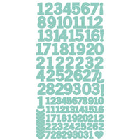 Sea Green Number Sticker Sheet