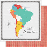 South America Memories Map 12x12 Paper