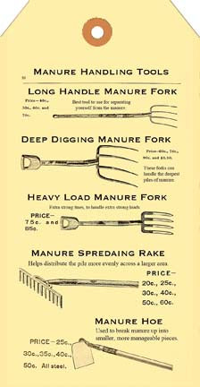 Manure Saying Pitch Fork Tag