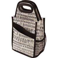 Typography Spinning Craft Tote