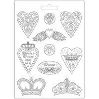 Princess Hearts And Crowns A5 Soft Mould