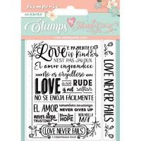 Love Story Love Never Fails Stamp Set