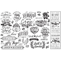 Decoupage Decor Thankful & Blessed Tissue Paper