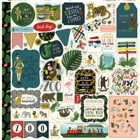Animal Safari 12x12 Sticker Sheet