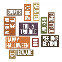 Alterations Halloween Words: Block Thinlits Die