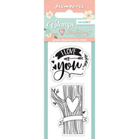 Love Story I Love You Stamp Set