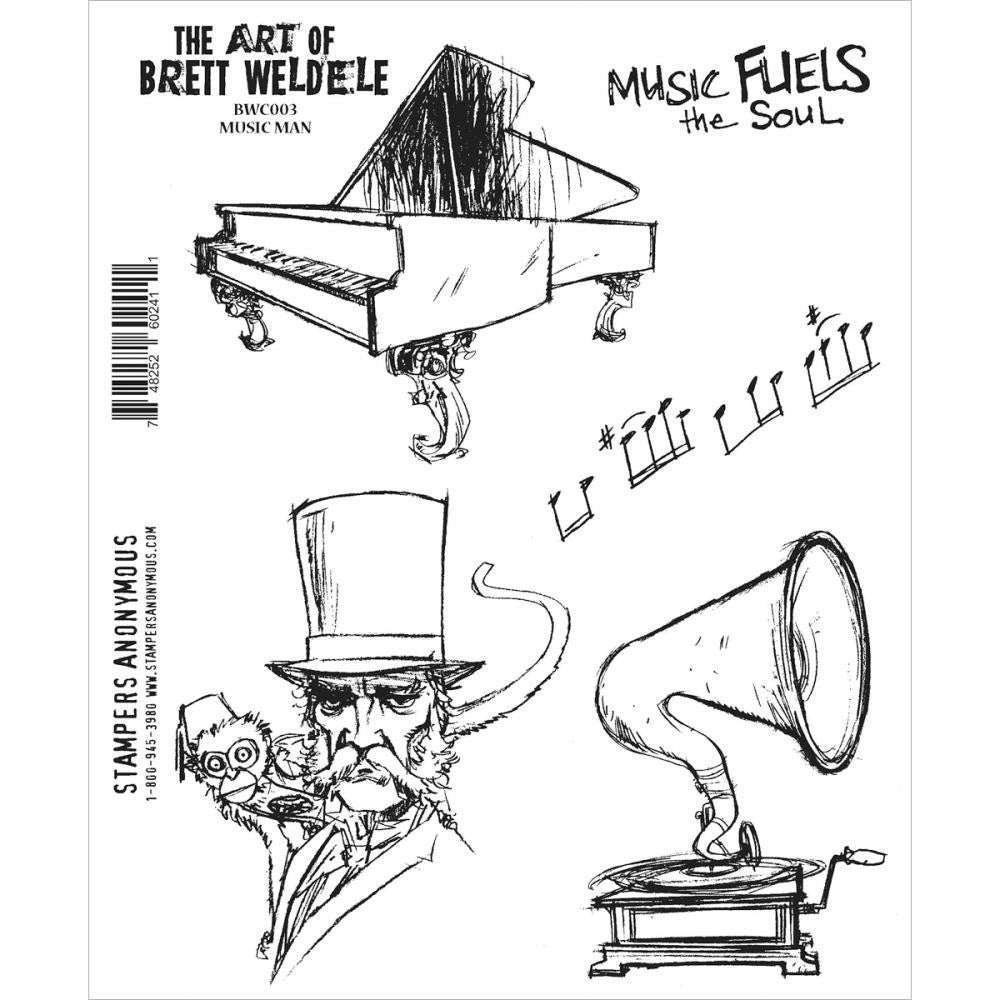 Brett Weldele Music Man Stamp Set