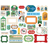 Zoo Adventure Ephemera Frames & Tags